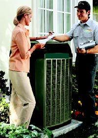 air conditioning service man